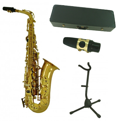 Gold Alto Saxophone Ultimate Pack with Accessories