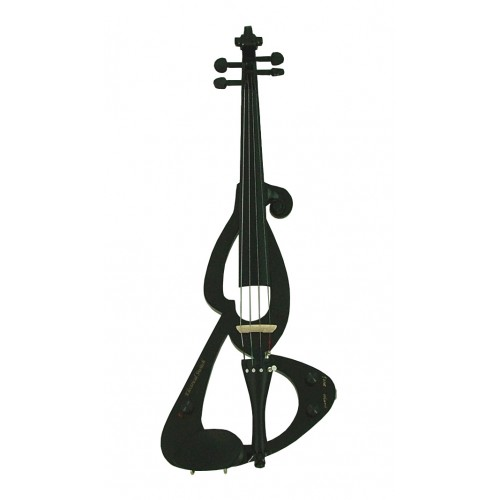 Black Electric Silent Violin by Fortissimo
