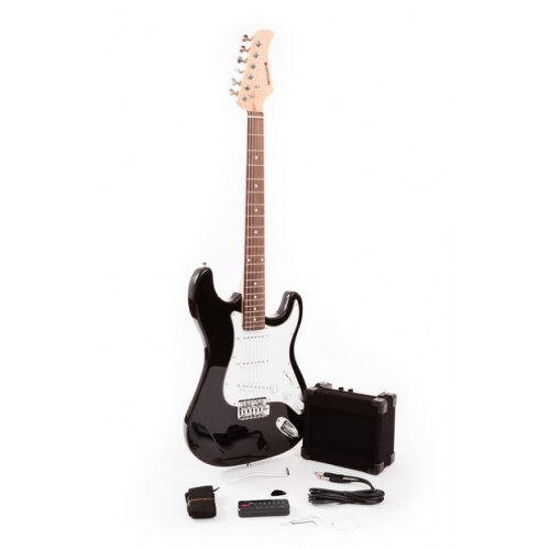 Fortissimo Value Black Electric Guitar Complete Package