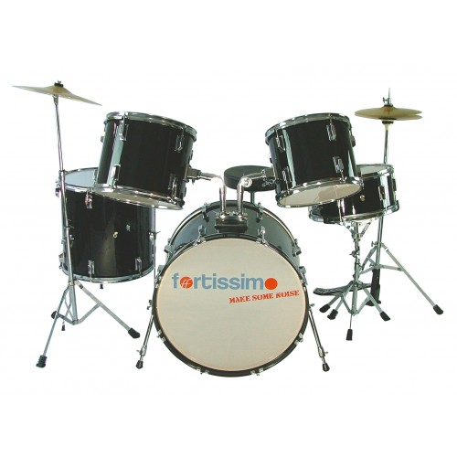 Black Fortissimo Quality Drum Kit
