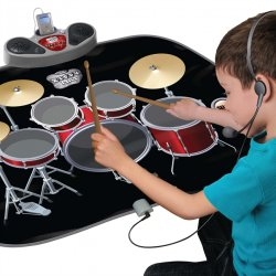 Child's Touch Sensitive Drum Kit Playmat With MP3 Input