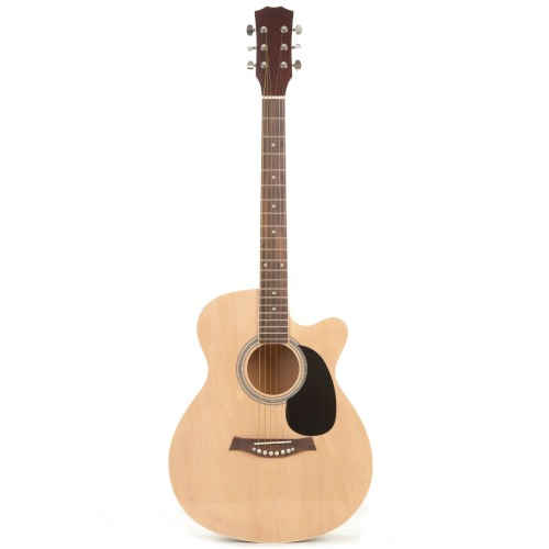 "Classic Cutaway Wooden 40"" Acoustic Guitar by Fortissimo"
