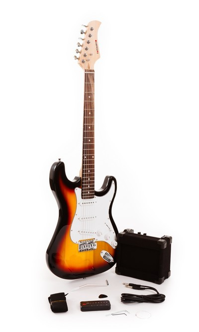 Classic Sunburst Basic Fortissimo Electric Guitar Beginners Pack