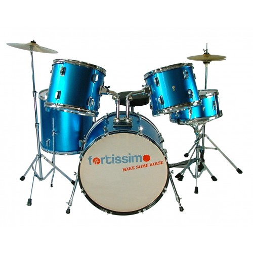 Electric Blue Funky Drum Kit by Fortissimo