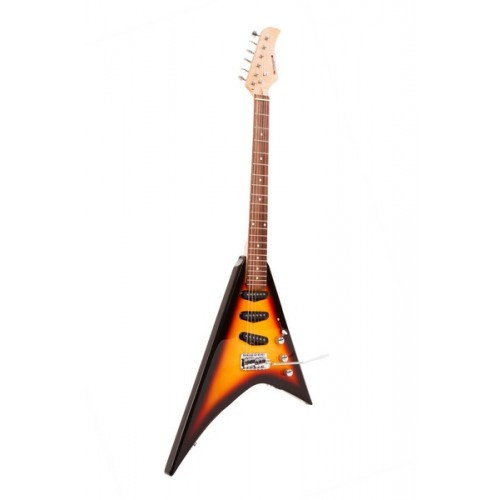 Fortissimo Classic Rock Sunburst V Shape Electric Guitar