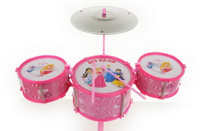 Pink Disney Princess Toy Drum Kit