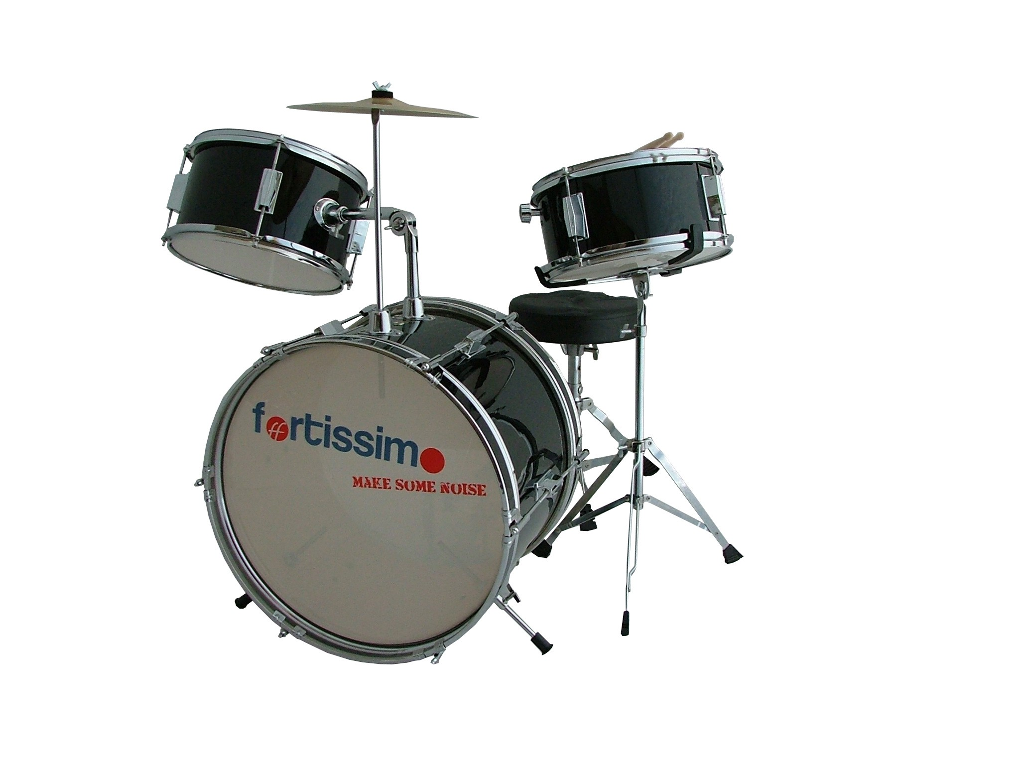 Premium Junior Black Complete Drum Kit