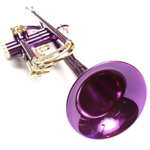 Funky Purple Nickel Plated Bb Premium Trumpet