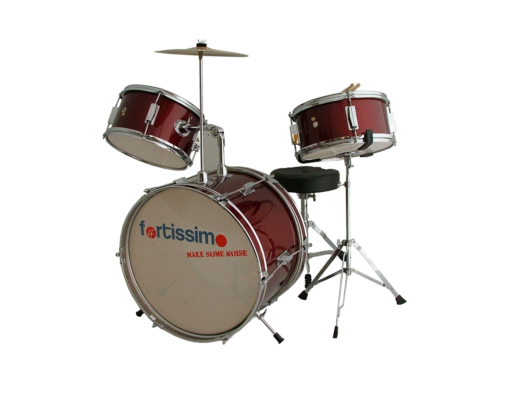 Premium Red Junior Drum Kit