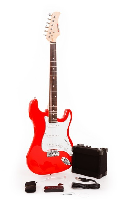 Bright Red Fortissimo Value Electric Guitar Starter Pack
