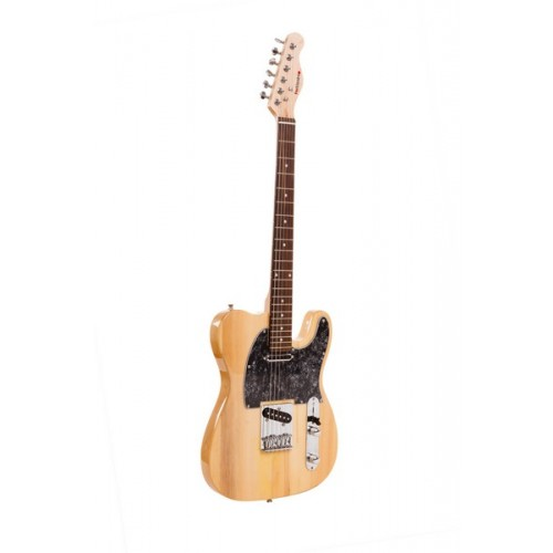 Retro Wood and Black Pearl Classic Electric Guitar