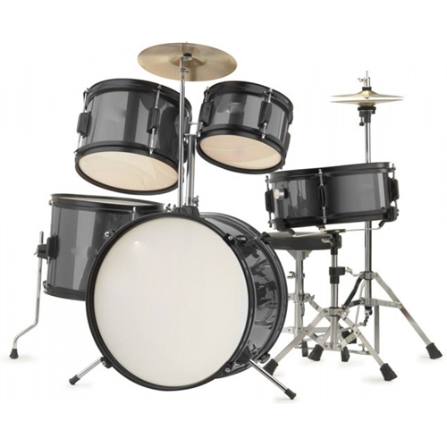 Rocket Premium Cool Black 5 Piece Junior Drum Kit