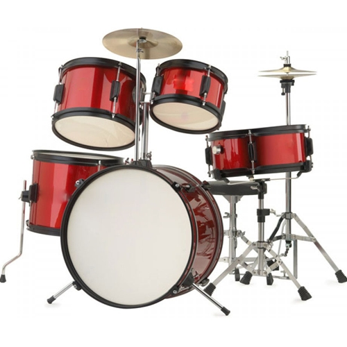 High Quality Rocket Red Junior Kids Full Drum Kit