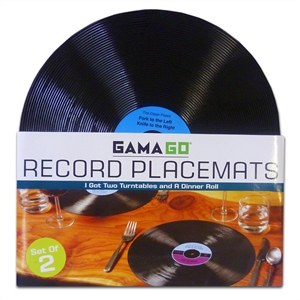 Set of Retro Vinyl Record Funky Place-mats