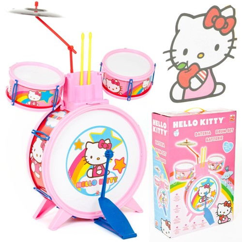 Girls Toy Hello Kitty Fun Acoustic Drum Set